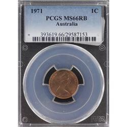 Australia 1971 1c PCGS MS66 RB