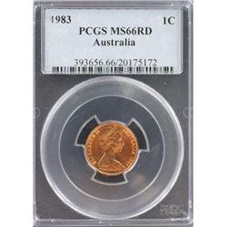 Australia 1c 1983 PCGS MS 66 Red