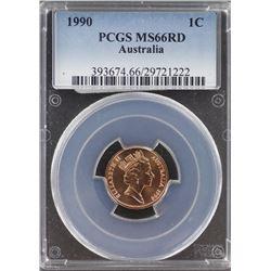 Australia 1c 1990 PCGS MS 66 Red