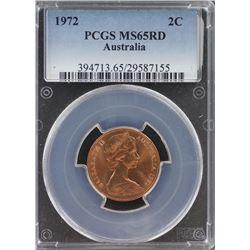Australia 2c 1972 PCGS MS 65 Red