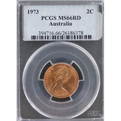 Australia 2c 1973 PCGS MS 66 Red