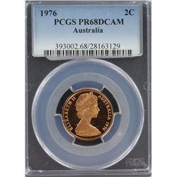 Australia 2c 1976 PCGS PR 68 DCAM