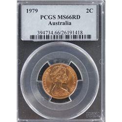 Australia 2c 1979 PCGS MS 66 Red