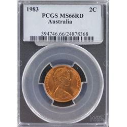 Australia 2C 1983 PCGS MS 66 Red