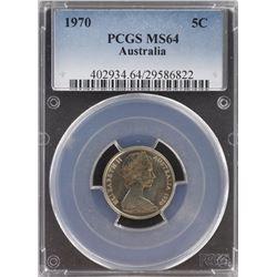 Australia 5c 1970 PCGS MS 64