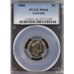 Australia 1988 5c PCGS MS 66