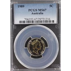 Australia 5c1989 PCGS MS 67