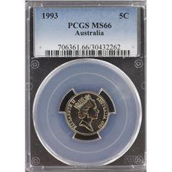 Australia 5c 1993 PCGS MS 66