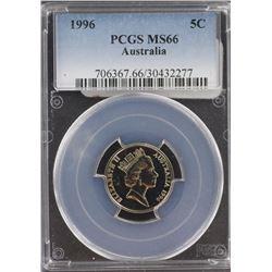 Australia 5c 1996 PCGS MS 66