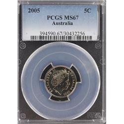 Australia 5c 2005 PCGS MS 67