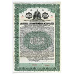Locomobile Company of America, Inc. 1922 6% Gold Coupon Bond.
