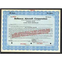 Bellanca Aircraft Corp., ca.1920-1930 Specimen Stock