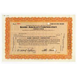 Globe Aircraft Corp., ca.1930 Specimen Stock