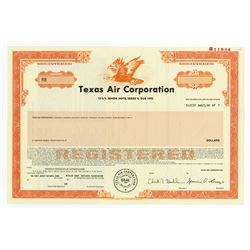 Texas Air Corp., 1988 Specimen Bond
