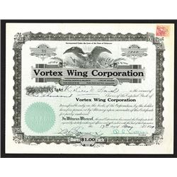 Vortex Wing Corp., 1929 Issued Stock