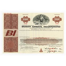 Braniff Airways, Inc., 1966 Specimen Bond
