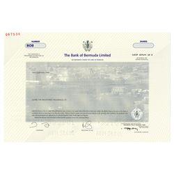 Bank of Bermuda, Ltd., 2001 Specimen Stock Certificate
