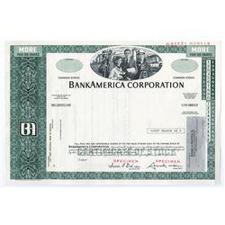 BankAmerica Corp., ca.1960-1970 Specimen Stock Certificate