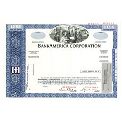 BankAmerica Corp., ca.1980-1990 Specimen Stock Certificate