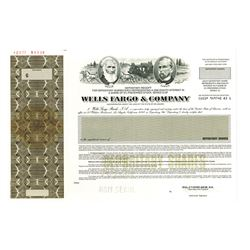 Wells Fargo & Co., 1996 Specimen Stock Certificate