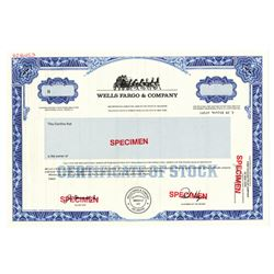 Wells Fargo & Co., ca.1950-1960 Specimen Stock