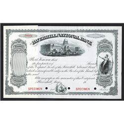 Haverhill National Bank, ca.1900 Specimen Stock Certificate.