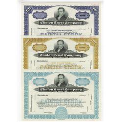 Clinton Trust Co., ca.1950-1960 Specimen Stock