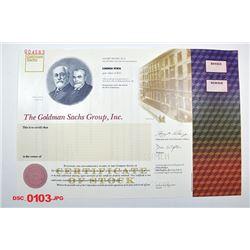 Goldman Sachs Group, Inc., ca.1990-2000 Specimen Stock