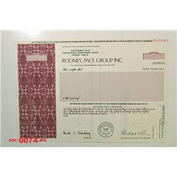 Rooney, Pace Group Inc., 1985 Specimen Stock