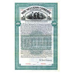 Success Co. of New York City, 1908 Specimen Bond