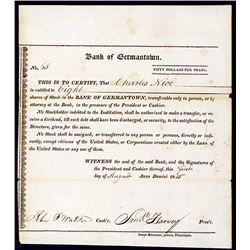 Bank of Germantown, Issued Stock.