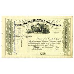 Farmers & Mechanics National Bank, ca.1930-1950 Specimen Stock Certificate