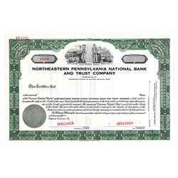 Northeastern Pennsylvania National Bank and Trust Co., ca.1940-1950 Specimen Stock Certificate