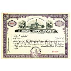 Philadelphia National Bank, ca.1940-1950's Specimen Stock Certificate