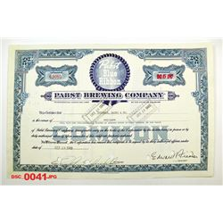 Pabst Brewing Co., 1949 Issued Stock