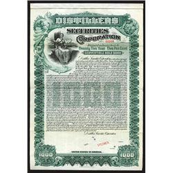 Distillers Securities Corp., 1902 Specimen Bond