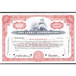 Lionel Corp., 1960 Specimen Stock Certificate