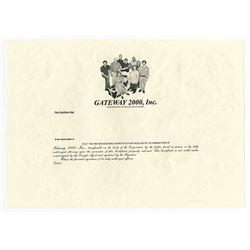 Gateway 2000, Inc., ca.2000 Proof Certificate