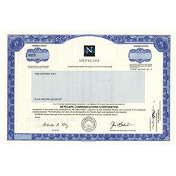 Netscape Communications Corp., ca.1980-1990 Specimen Stock Certificate