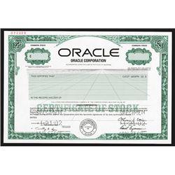 Oracle Corp., 2002 Specimen Stock