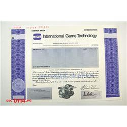 International Game Technology, 1997 Specimen Stock