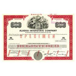Alaska Interstate Co., 1974 Specimen Bond