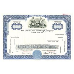 Coca-Cola Bottling Co. of New York, Inc., ca.1960-1970 Specimen Stock Certificate