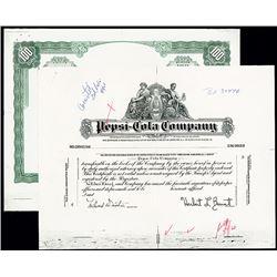 Pepsi-Cola Co., ca.1960 Proof Certificate