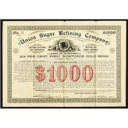 Union Sugar Refining Co., 1896 Issued Bond