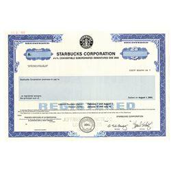 Starbucks Corp., 1993 Specimen Bond
