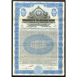 Government of the Argentine Nation, 1927 Specimen Bond