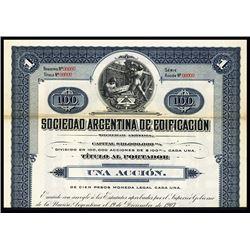 Sociedad Argentina de Edificacion Specimen Bond.