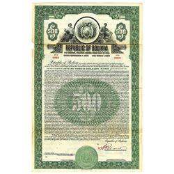 Republic of Bolivia, 1928 Specimen Bond