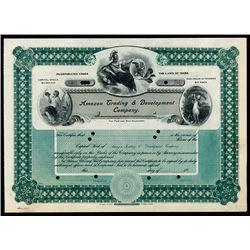 Amazon Trading & Development Co., 1907 Specimen Stock.